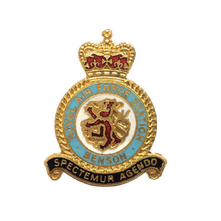 Royal Air Force RAF Station Benson Lapel Badge